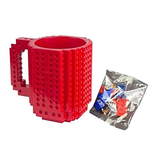 fdad5738fc3 Buy Allwin Build A Brick Mug Cup DIY Building Blocks Coffee Cups Red online  | Jumia Uganda