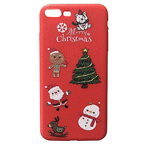 competitive price 01ab7 32c52 Hiamok Merry Christmas Phone Case Xmas TPU Thin Cover for iPhone 7 Plus/8  Plus 5.5Inch