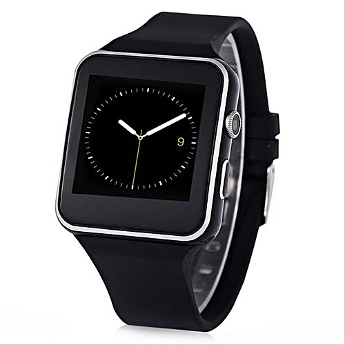 X6 Bluetooth Smartwatch Sports Watch For Android Support Camera SIM  Card(Black)