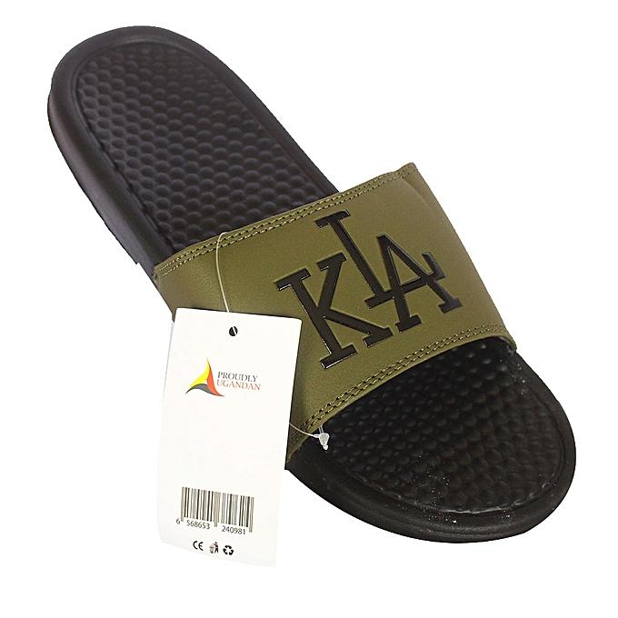 453da00663002d White Label Kla Print Men s Slide Flip Flops - Army Green