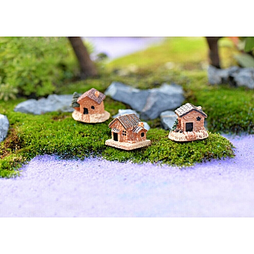 Hiamok Mini Dollhouse Stone House Resin Decorations For Home And Garden DIY