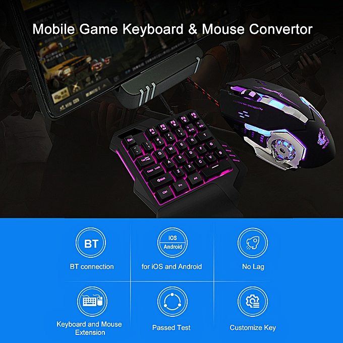 Mobile Game Keyboard & Mouse Convertor Gaming Adapter Dock Station for  Android iOS BT Connection for PUBG