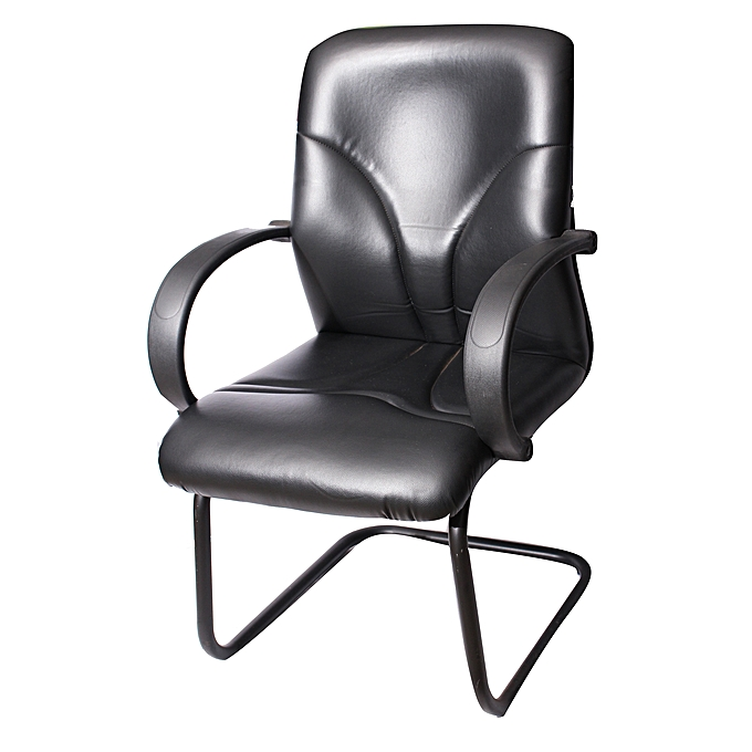 Buy Cantelever Visitors Chair Pvc Black Best Price