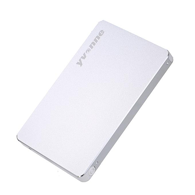 yvonne 2 5 Inch SATA to USB External Hard Drive Enclosure Tool-Free  2 5-inch SATA SSD / HDD USB 3 0 Box External Interface 5Gbps (Silver)