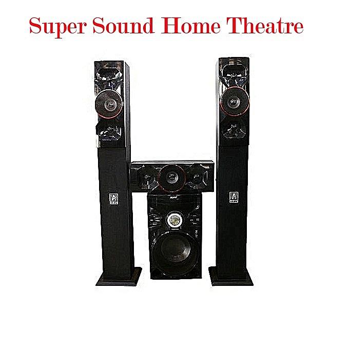 Ailipu 8307 Three Speakers Home Theater - 3 1 Multimedia Sub Speaker/Woofer  Bluetooth USB Remote- Black
