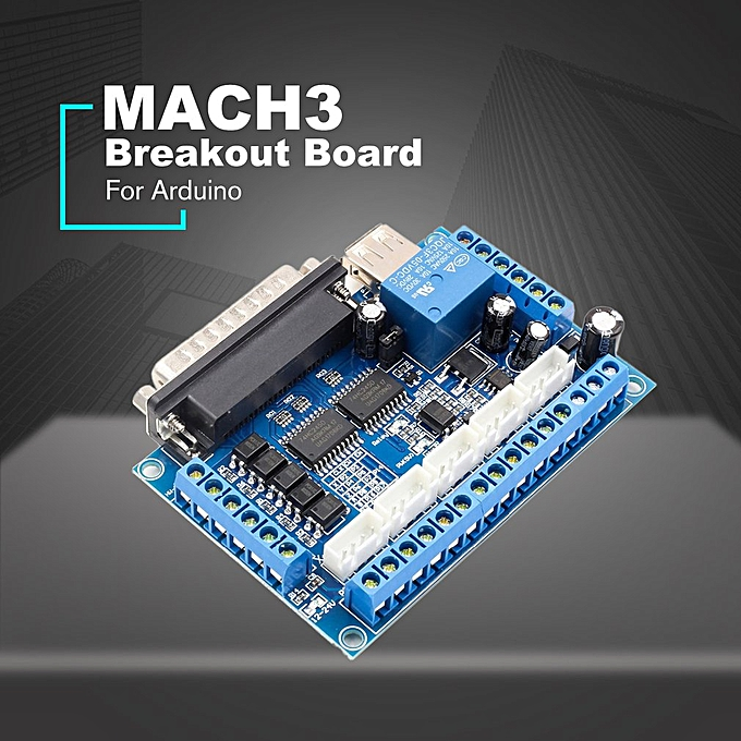 5 axis CNC Breakout Shield Board Stepper Motor Driver MACH3 Module  Controller blue
