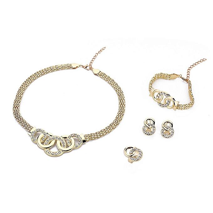 6959ae6657f48 4PCS/SET Necklace Pendant Earrings Jewelry Set Elegant Design Women