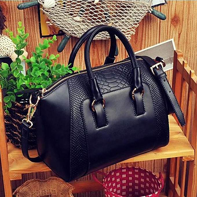 6bc4eeec Women Shoulder Bag Faux Leather Satchel Cross Body Tote Handbag Black