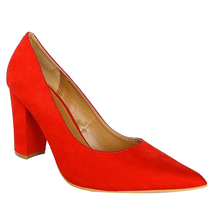 eef99300fd3 Pointed Toe Heel Pump Shoes - Red