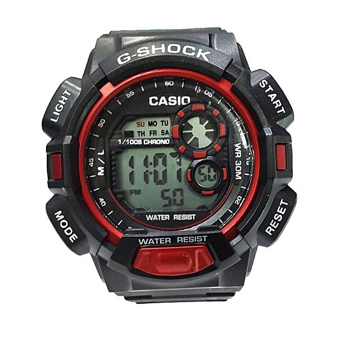 G Shock Baiskiniu Sports Watch Black Red