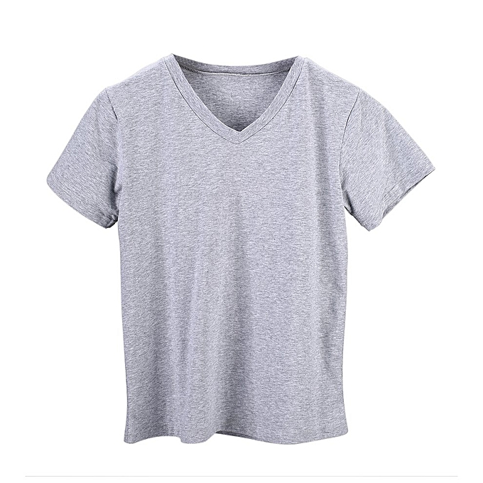 41e198bc00e8 Women Summer Leisure Casual V-neck Basic Colors Sleeved Classic Ladies T- shirt