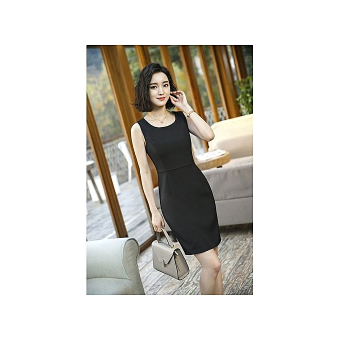 1b18a6ef4bf26 RefinedNew Korean Version Of The Summer Casual Small Suit Inside The Dress  Ladies Overalls Dress-black-S