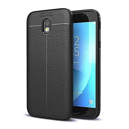 sale retailer f572b 7c4ac TPU Flexible Auto Focus Shock Proof Back Cover For Samsung Galaxy J7 Pro -  Black