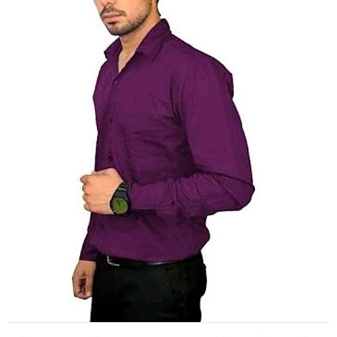 6f5635e3c2d Buy New Men's Formal,Casual Shirts Purple online | Jumia Uganda