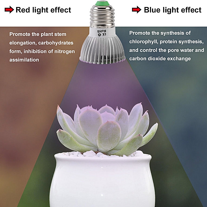LED Plant Grow Light E27 Hydroponics For Indoor Greenhouse Flower Grow Box  silver