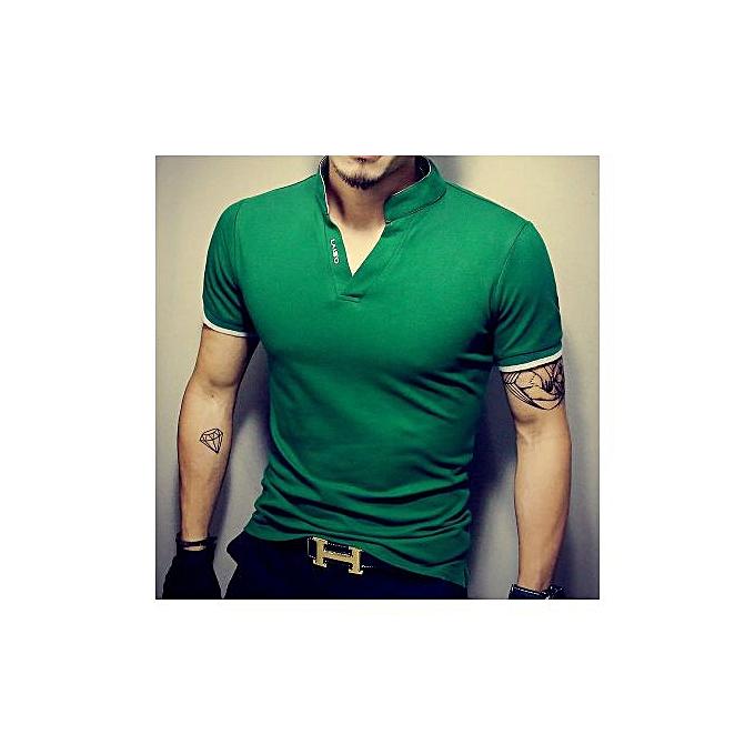 47159c19a2353 2019 New Casual V-neck Men's Short-sleeved T-shirt