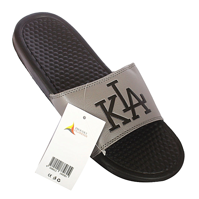 41f2d436c4342c White Label Kla Print Men s Slide Flip Flops - Grey