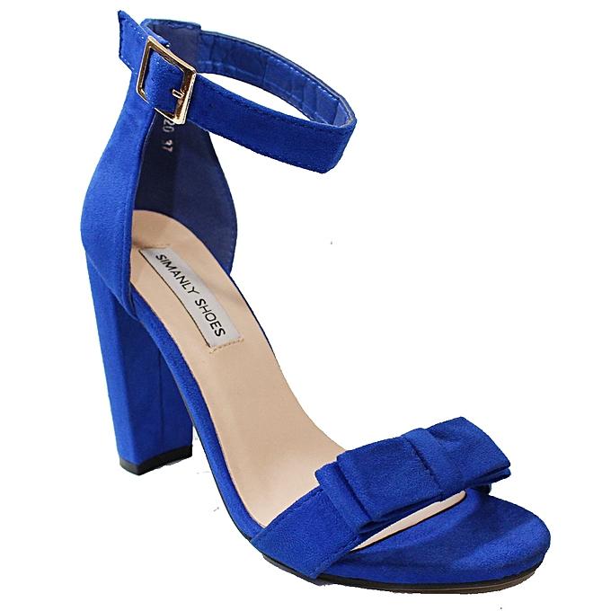 1aba6c07de3 Ankle Strap Block Heel Shoes - Blue