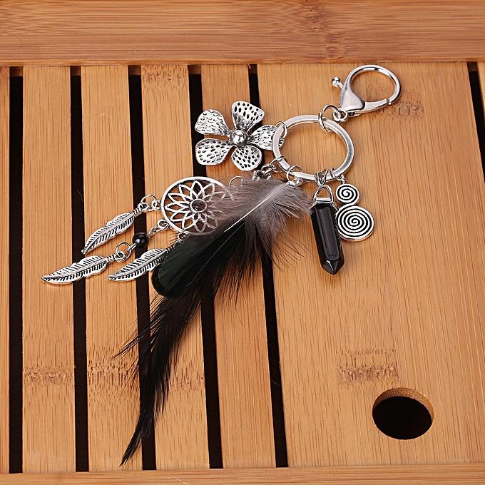 huge discount 0ef50 89346 Hiamok Dreamcatcher Turquoise Feather Tassel Keychain Bag Handbag Ring Car  Key Pendant