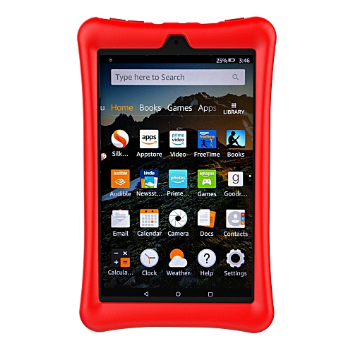 differently e680e ff817 Protective Shell Skin Silicone Case Cover For Amazon Kindle Fire HD 8  2016/2017