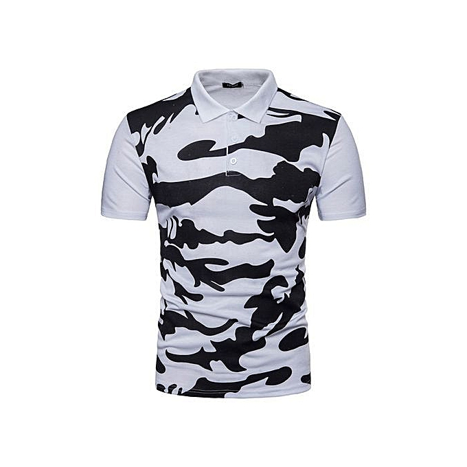53f2f3a0 Buy Generic Stylish Men Summer Camo Leisure Lapel Short Sleeve Polo ...