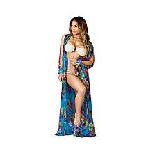 a1585cc1449d3 Sexy Dress Cardigan Chiffon Dress Extra Long Coat Cloak Beach Dress Blouse  G041