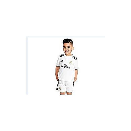 3d28de54c Generic Replica Real Madrid FC 2018 19 Kids Full Jersey - White ...