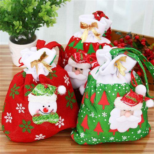 Christmas Gift Bags Images.Christmas Gift Bag For Candy Christmas Gift Bags Christmas Ornament Decoration Santa Claus