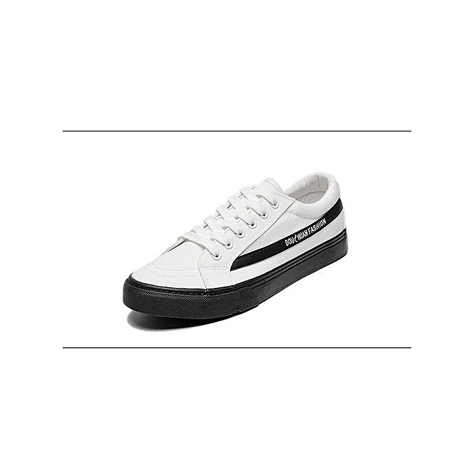 95b2935807 New Men Casual Shoes Breathable Wear Resistant Shoes Comfortable Summer White  Round Toe Lace Up Flat