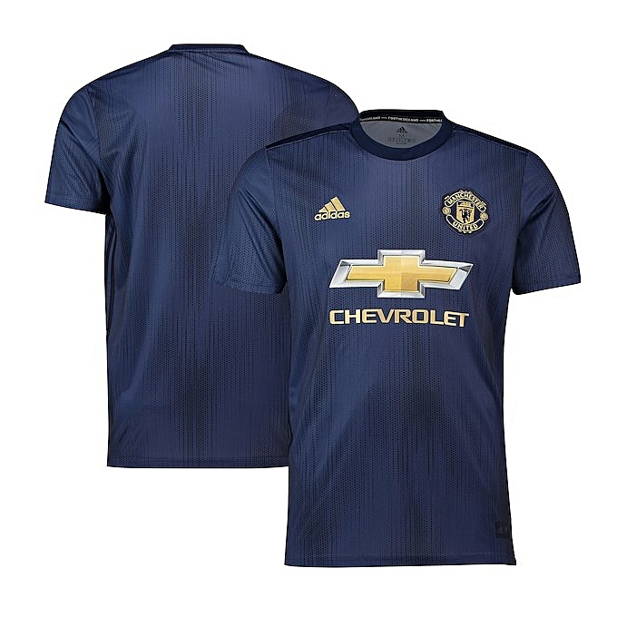 559cf18ea68 ... Replica Manchester United Football Club 2018 2019 Replica Away Jersey - navy  blue ...