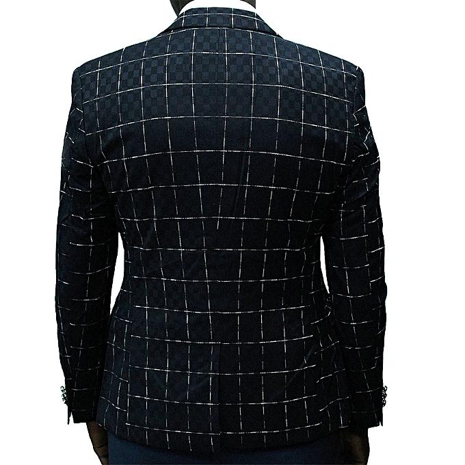 Blazers Jumia: White Label Checkered Long Sleeve Blazer - Black