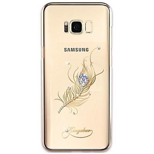 KingxBar KINGXBAR Deluxe Swarovski Plating Hard Case for Samsung Galaxy S8  - Peacock Feather  5da2439f0e