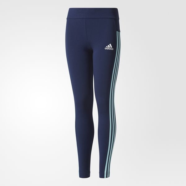 Youth Essentials 3-Stripes Tights Blue CF1789