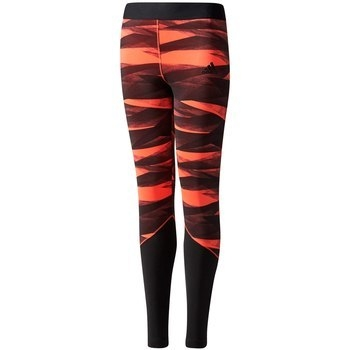 Image of adidas Young Girls Wrap Training Tights - easy coral / black CD8932