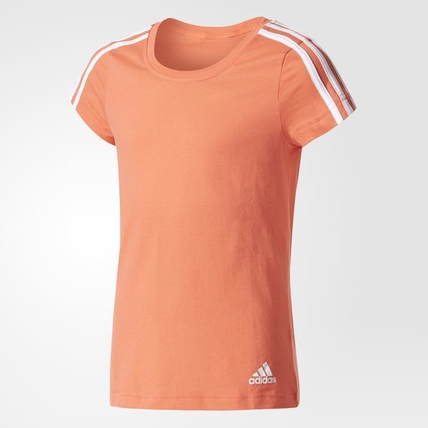 Playera Essentials 3-Stripes Naranja CF1733