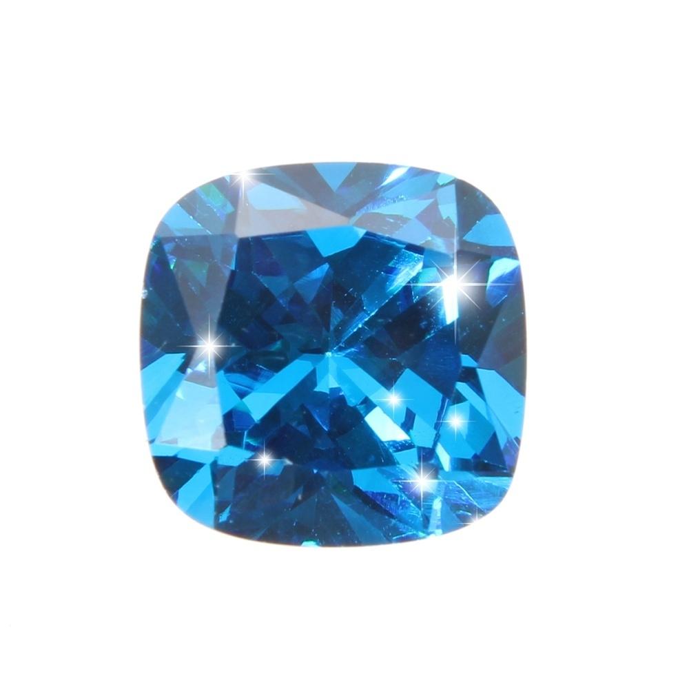 8.71 Carats Blue Zircon Sapphire Unheated Ceylon Cushion Shape 10x 10mm Gemstone