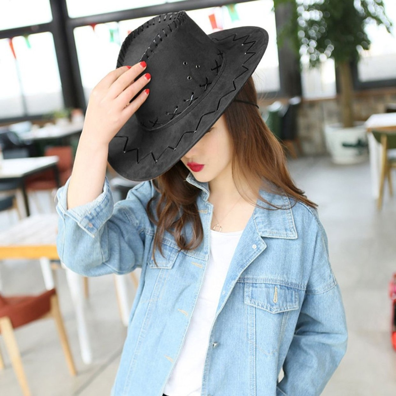6d85cb98 Buy Fashion Men Women Cowboy Style Hat Summer Travel Cowgirl Western ...