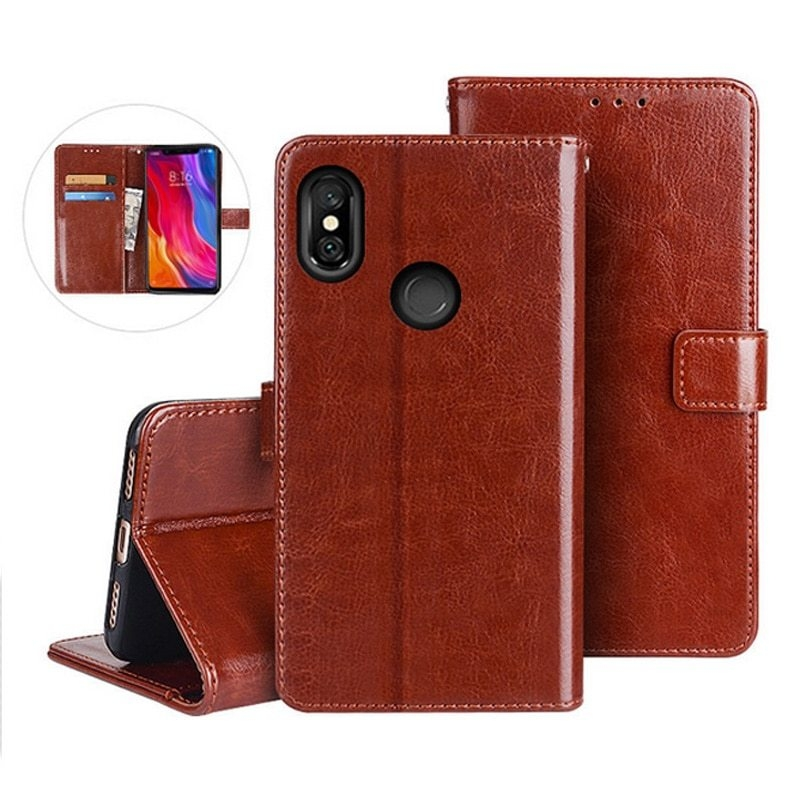 PU Leather Flip Wallet Phone Case Cover For Xiaomi Redmi Note 5 6A S2 6 Pro F1 Mi A1 A2 Mi 8 Lite 8 SE 4X 4A 5 Plus Note 4X Capa (2)