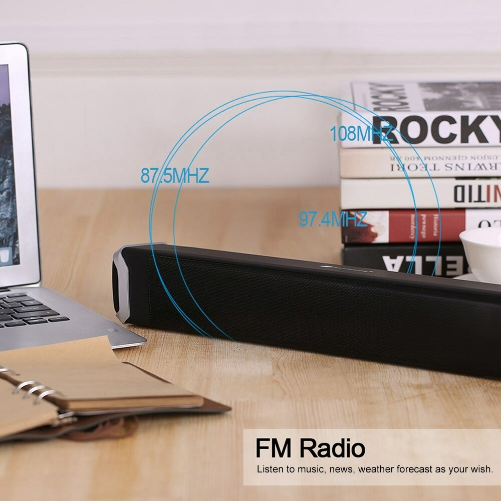 NewRixing NR - 2017 Elegant Wireless Bluetooth Soundbar Home Theater Speaker- Red
