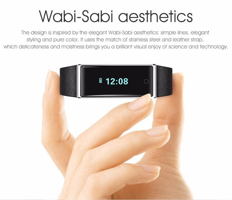 QS60 Heart Rate Measure Smart Wristband Bracele twith Breath Training Pedometer Sleep Tracker Smart Wrist Band with Touch Screen (3)