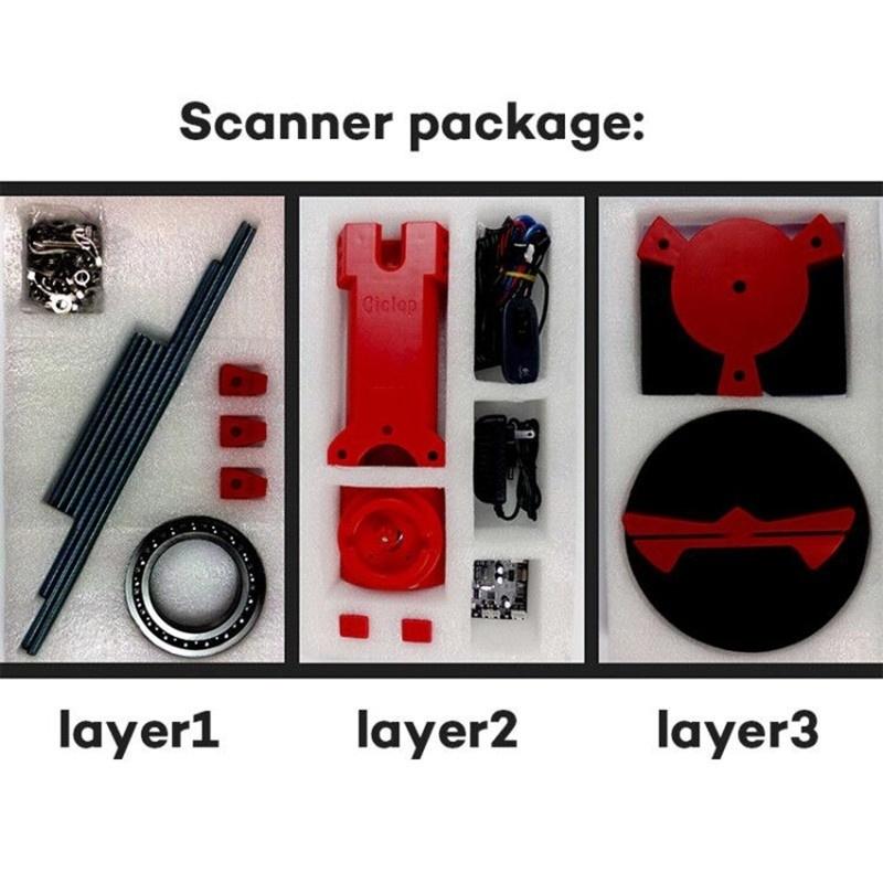 Buy Generic HE3D Open Source Ciclop Desktop DIY 3D Scanner