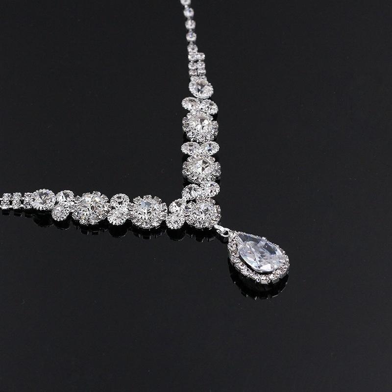 Buy Generic Women S Necklace Earrings Bridal Set Silver