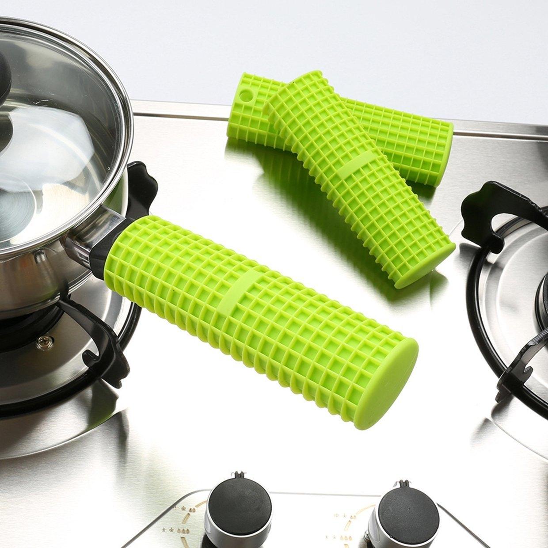Saucepan Pan Handle Cover Silicone Heat Resistant Silica Gel Pan Handle Sleeve