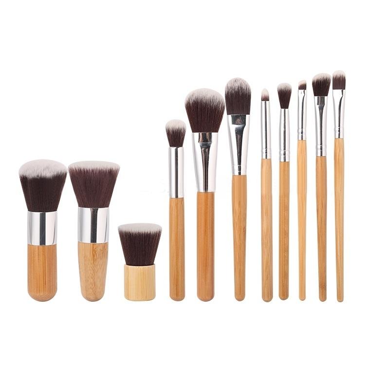 Buy Generic 11 Pcs Bamboo Handle Makeup Eyeshadow Blush