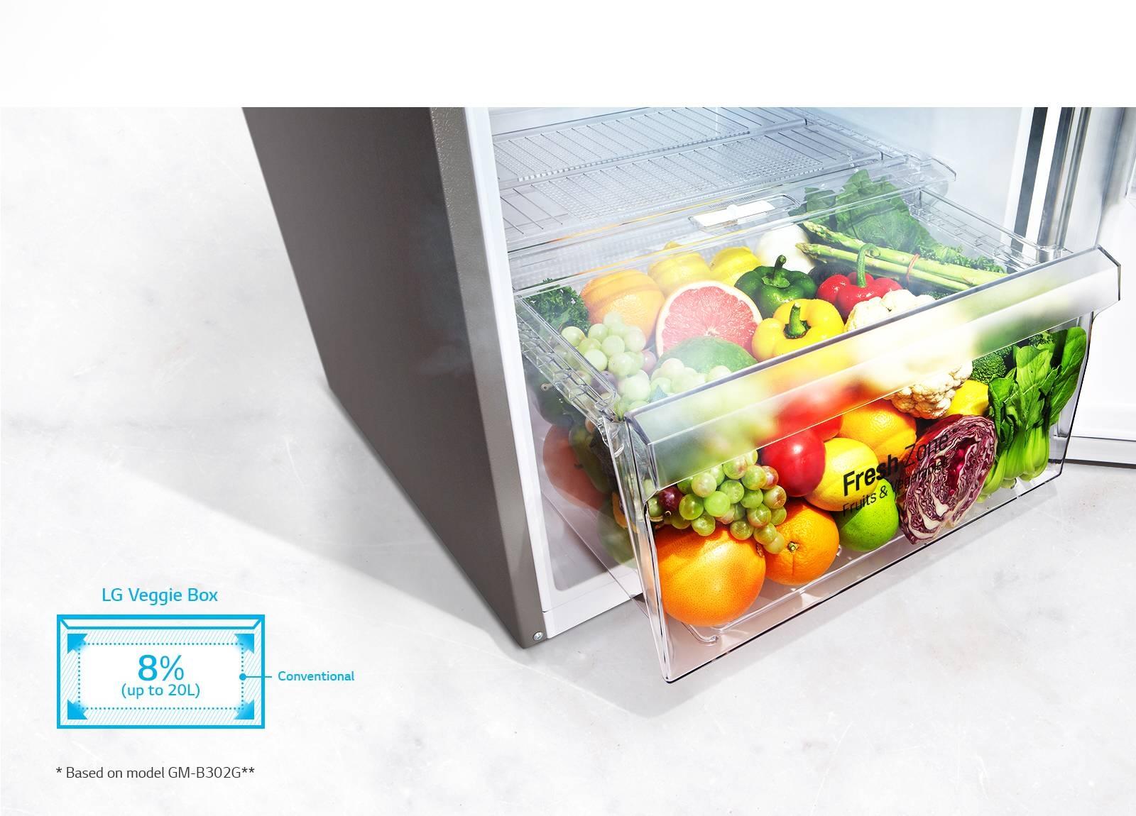 Grande boîte de légumes