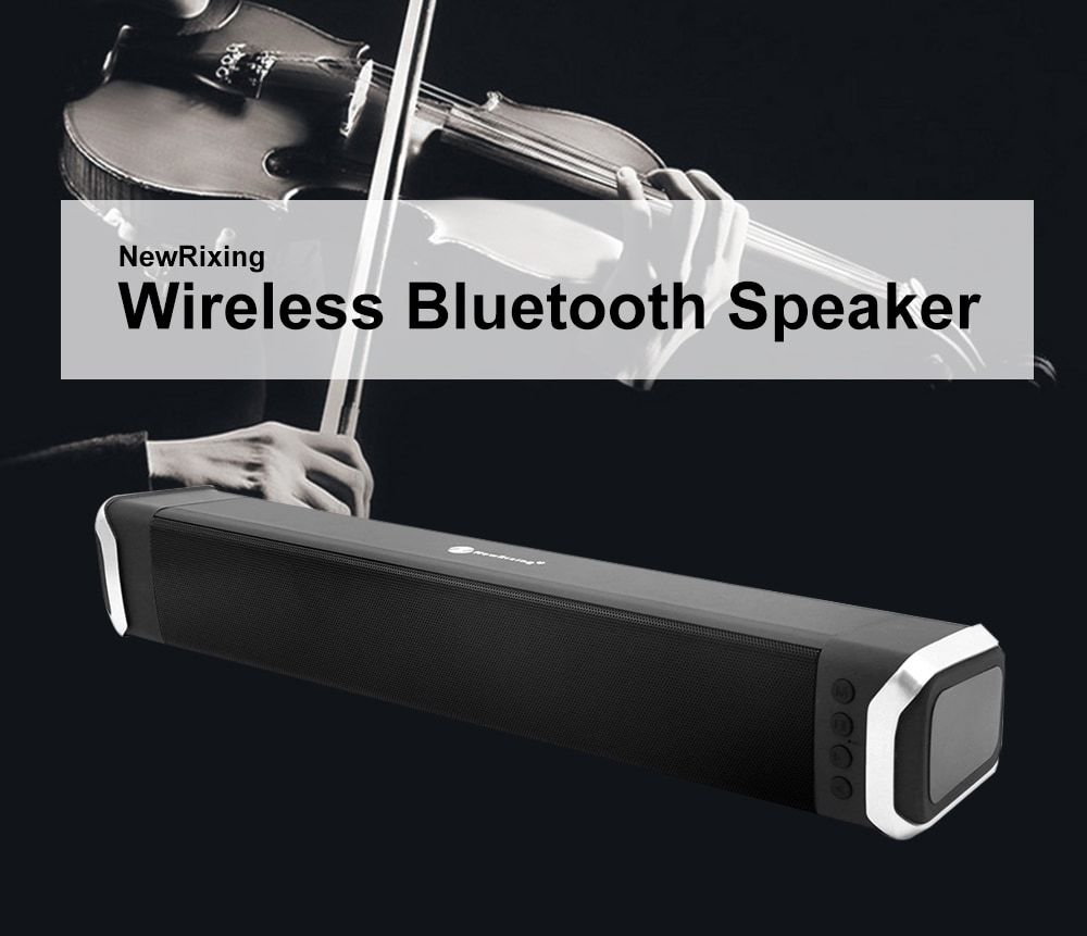 NewRixing NR - 2017 Elegant Wireless Bluetooth Soundbar Home Theater Speaker- Red