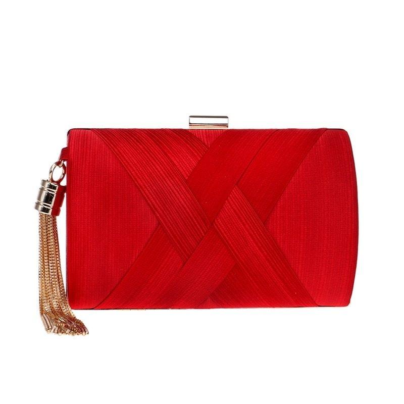 929ce08ea8 Buy Tauntte Women Clutch Flap Silk Shoulder Bag String Evening ...