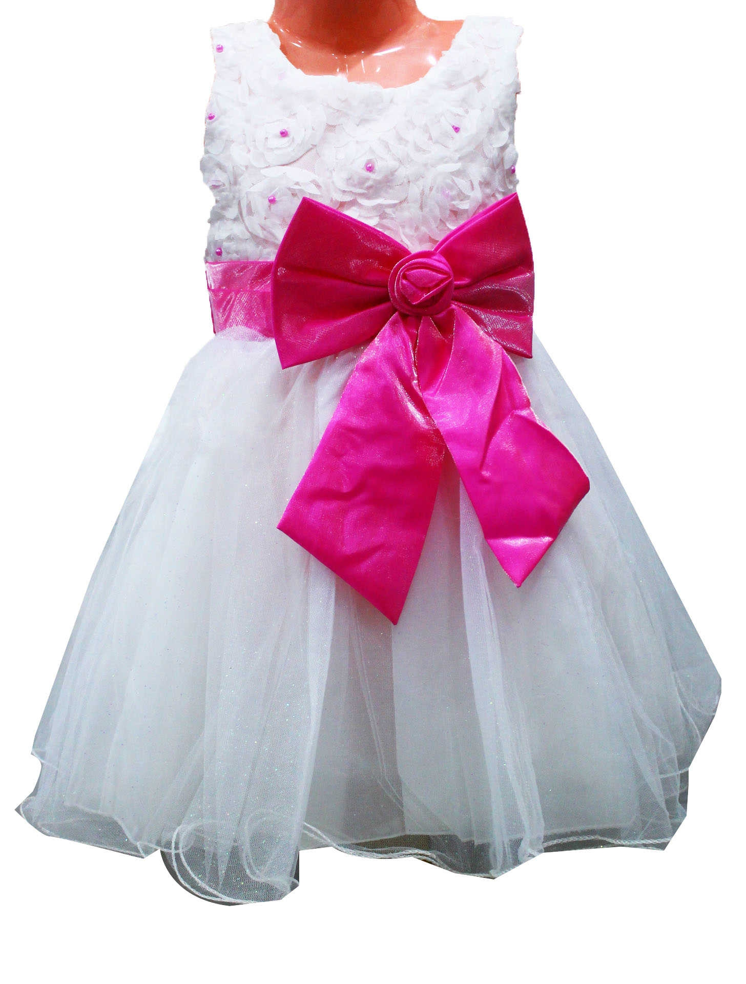 Buy - Girls Party Dress With a Ribbon - White @ Best Price Online ...