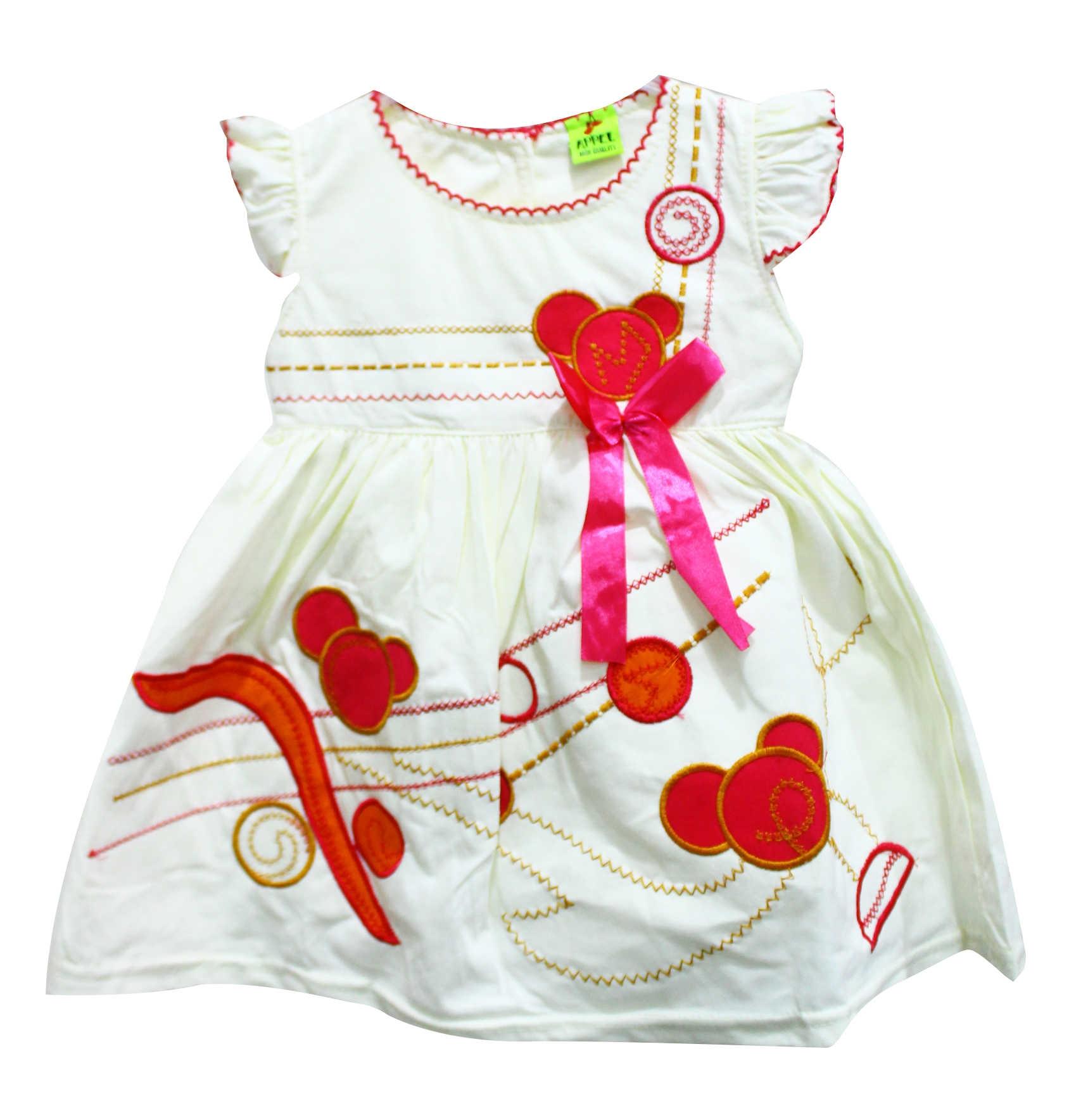 Buy Baby Girls Cotton Dress Cream Best Price line Jumia Uganda
