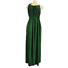 04c2233a33 Ruffle Maxi Dress - Forest Green